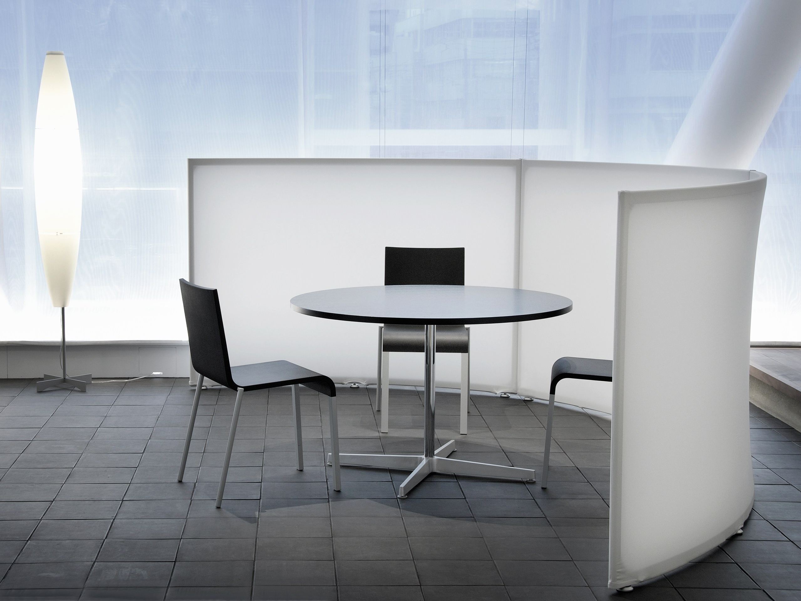 Fabric Office Partitions : Fabric room divider workstation screen falce by morita