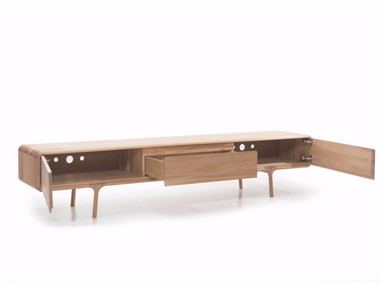 Oak sideboard with drawers fawn lowboard fawn collection for Sideboard lowboard