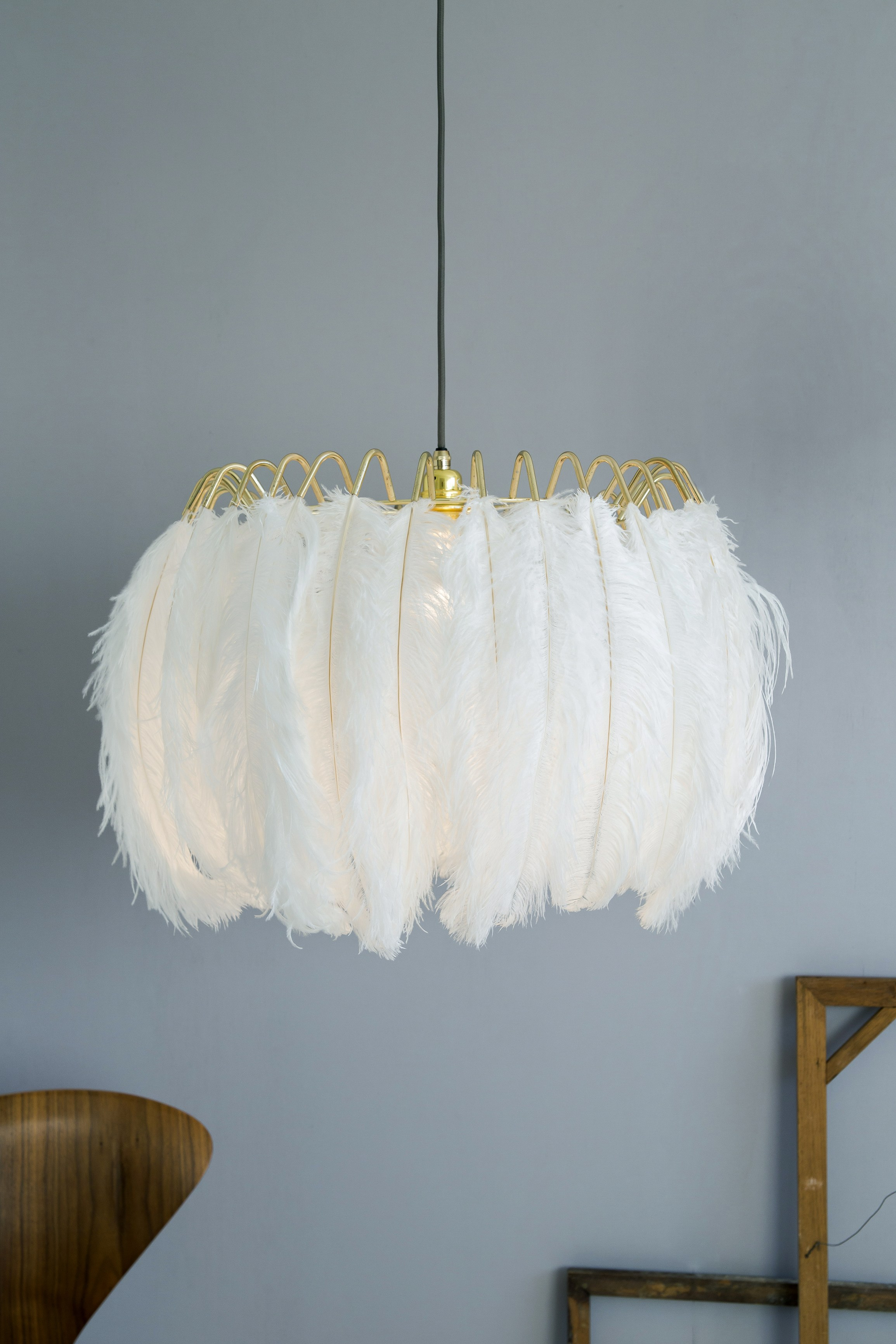 Feather Pendant Lamp Feather Collection By Mineheart