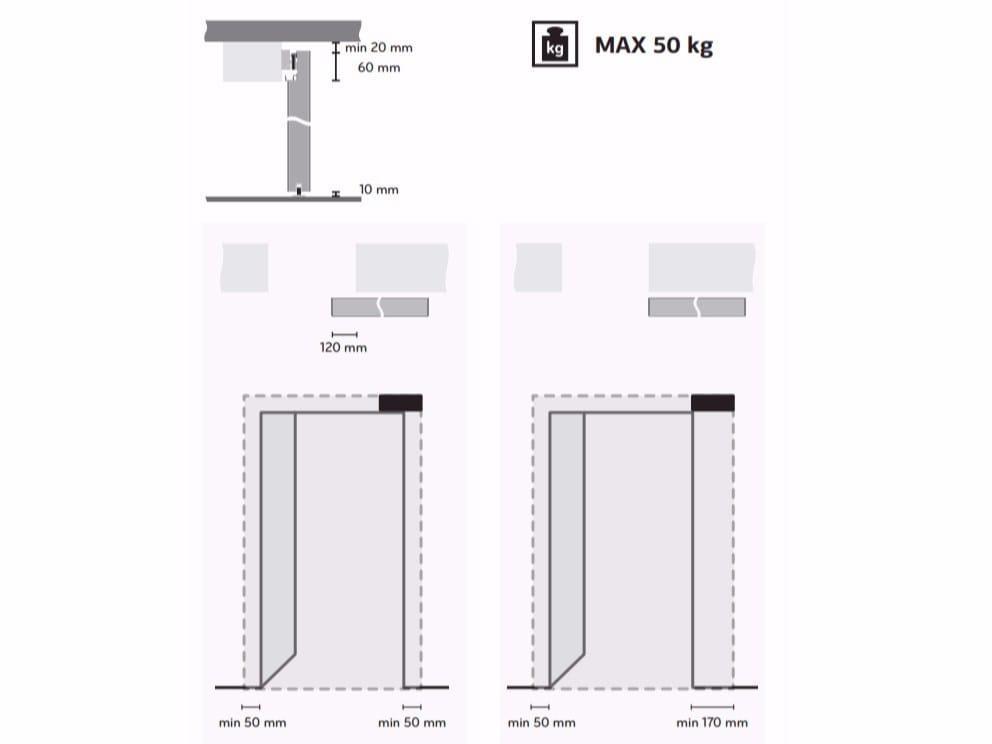 Porta scorrevole senza telaio FILA by BARAUSSE