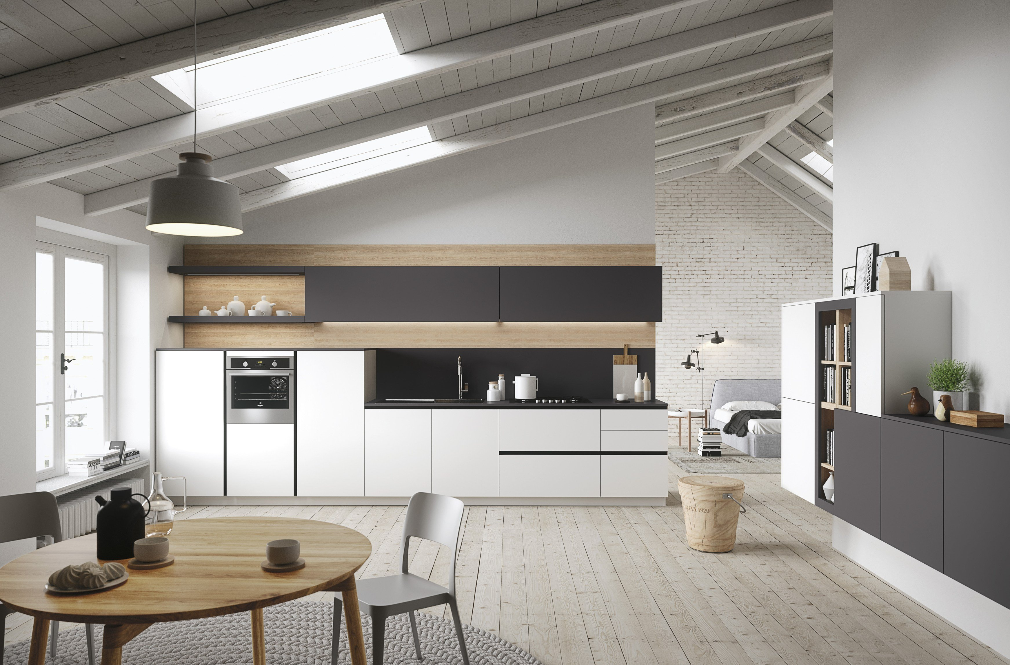 First contemporary style kitchen by snaidero for Cocina rustica moderna
