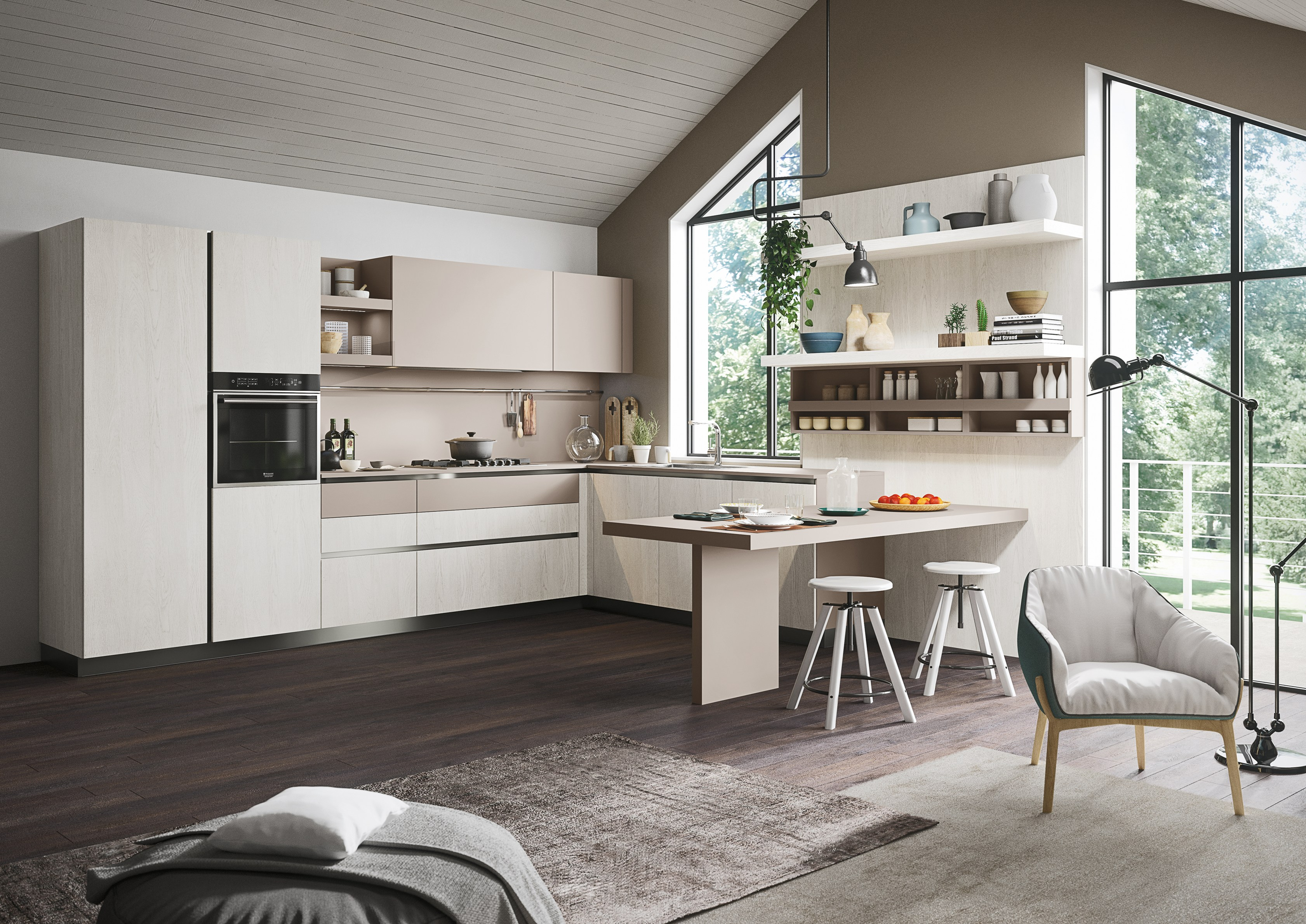 First cucina in stile moderno by snaidero design snaidero for Cucina in stile prateria