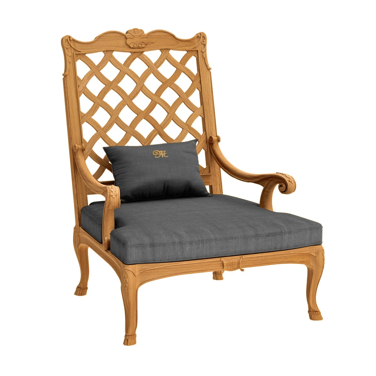 Fleur de lys fauteuil berg re by astello design dominique malcor thierry mas - Fauteuil bergere design ...