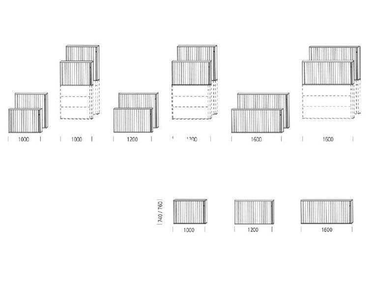 Mobile ufficio con serratura float fx by wiesner hager for Mobile ufficio con serratura