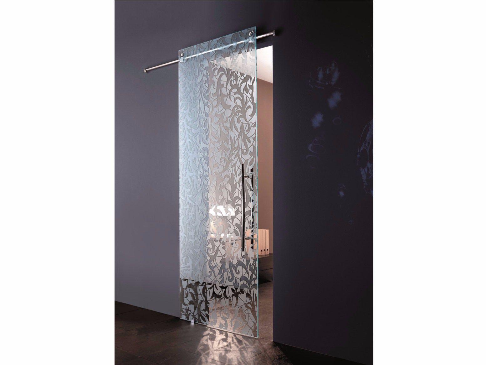 Porta scorrevole in vetro florita sabbiata by casali for Decoration porte coulissante