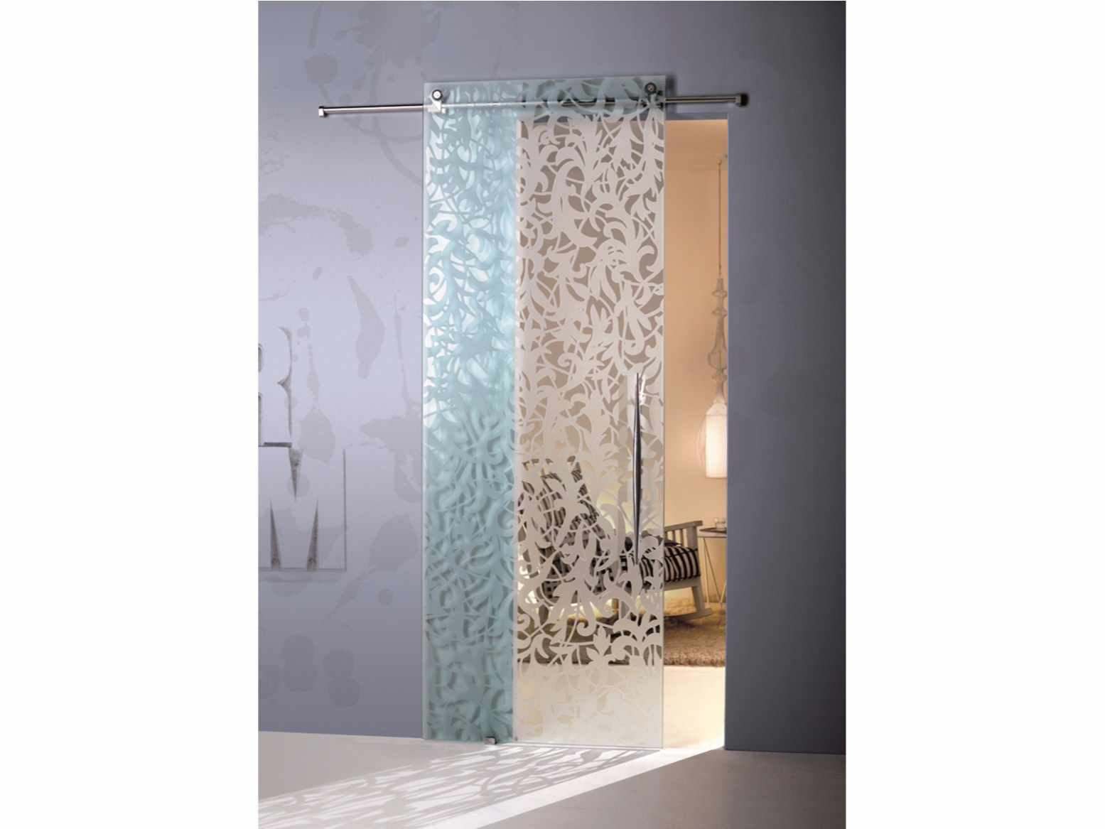 Porta scorrevole in vetro florita trasparente by casali - Casali porte scorrevoli prezzi ...