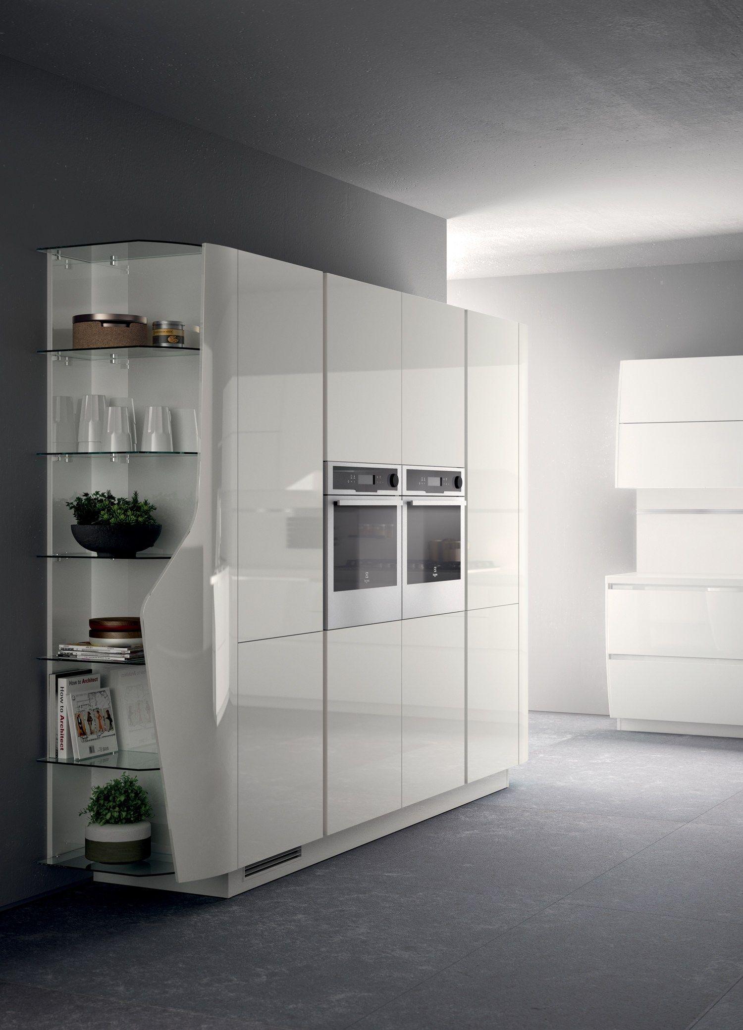 Cucina Componibile Laccata : Cucina componibile laccata flux swing linea scavolini by
