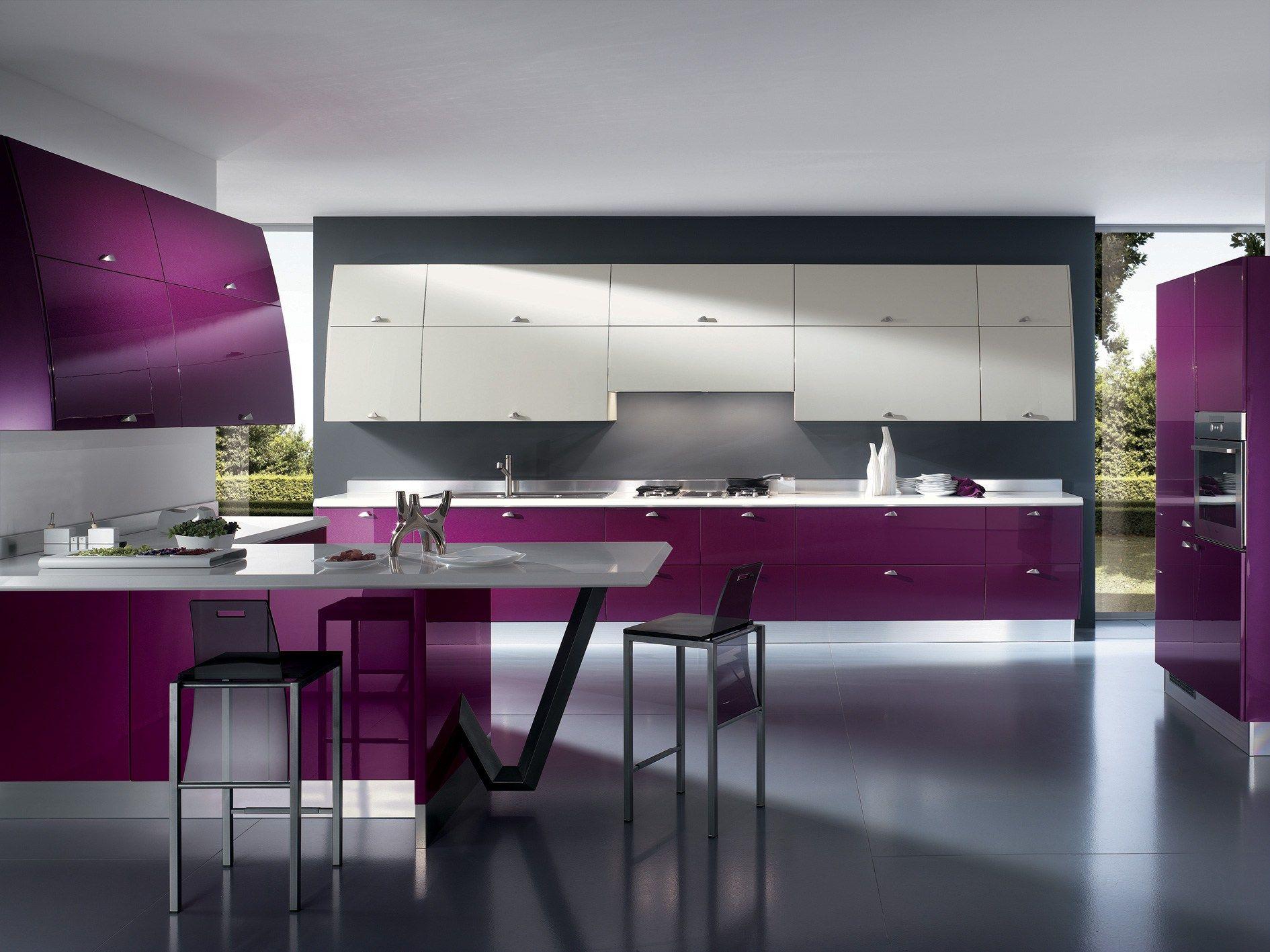 lacquered fitted kitchen flux scavolini line by scavolini design