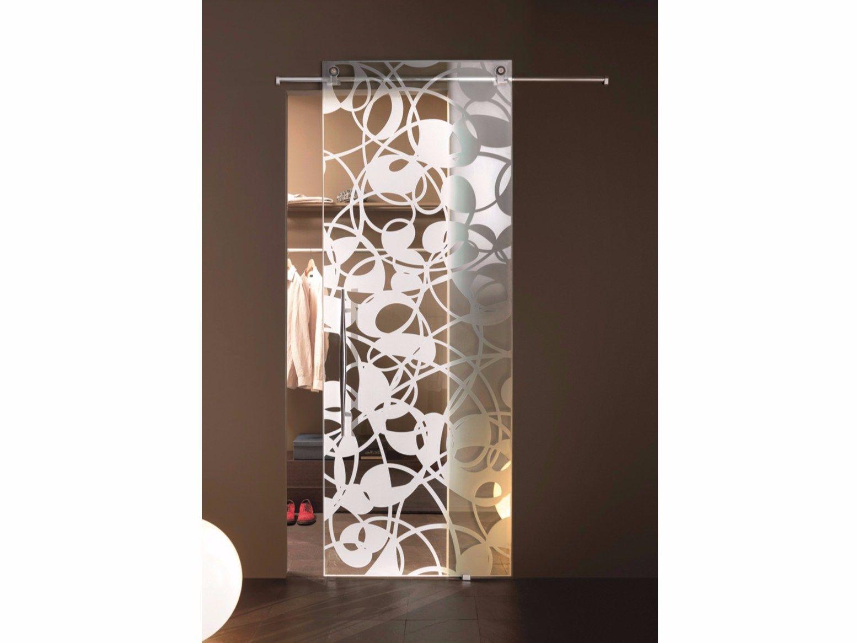 Porte coulissante en verre fly trasparent by casali