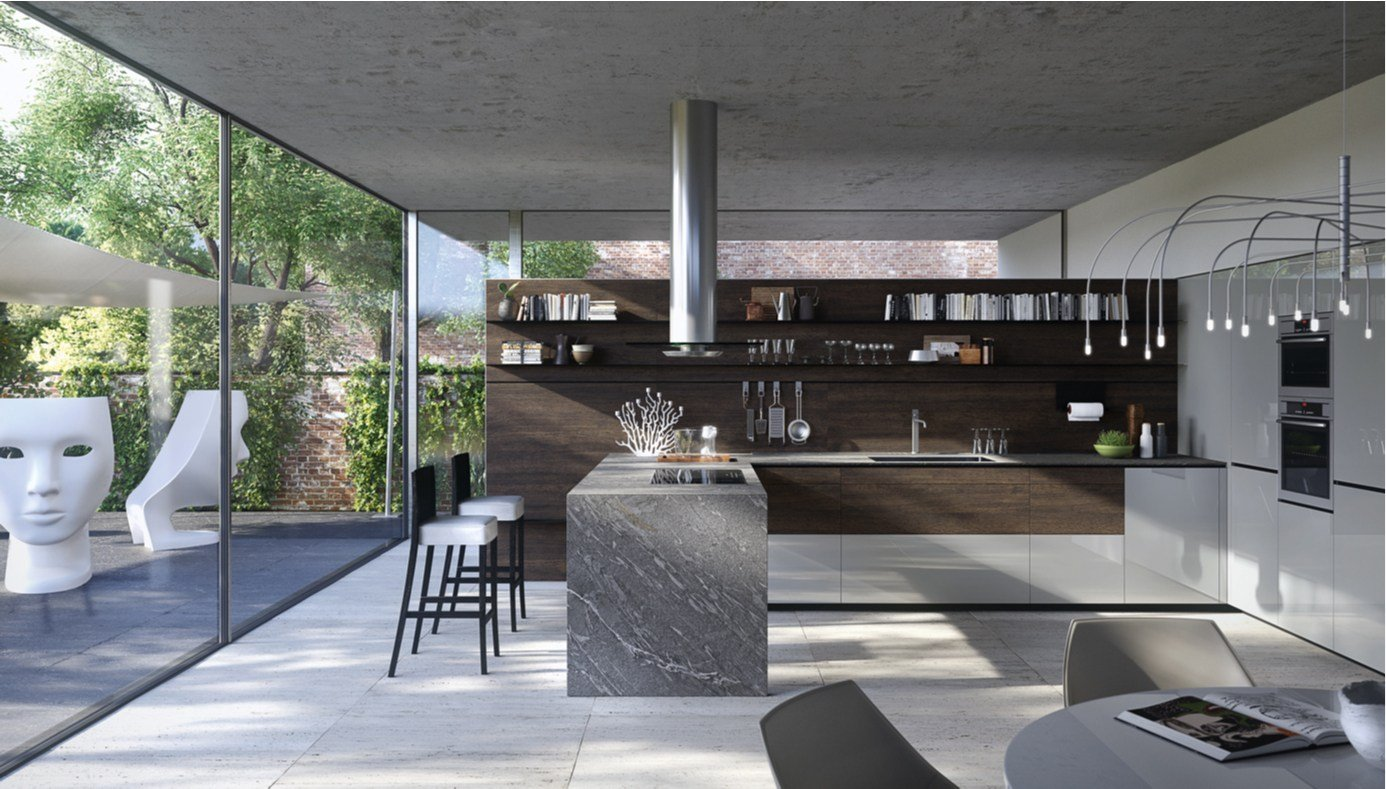 Fitted kitchen forma mentis wood by valcucine - Valcucine forma mentis ...