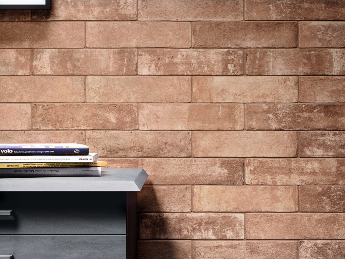 Glazed stoneware wall tiles with brick effect fornace by ragno for Gres porcellanato carrelage