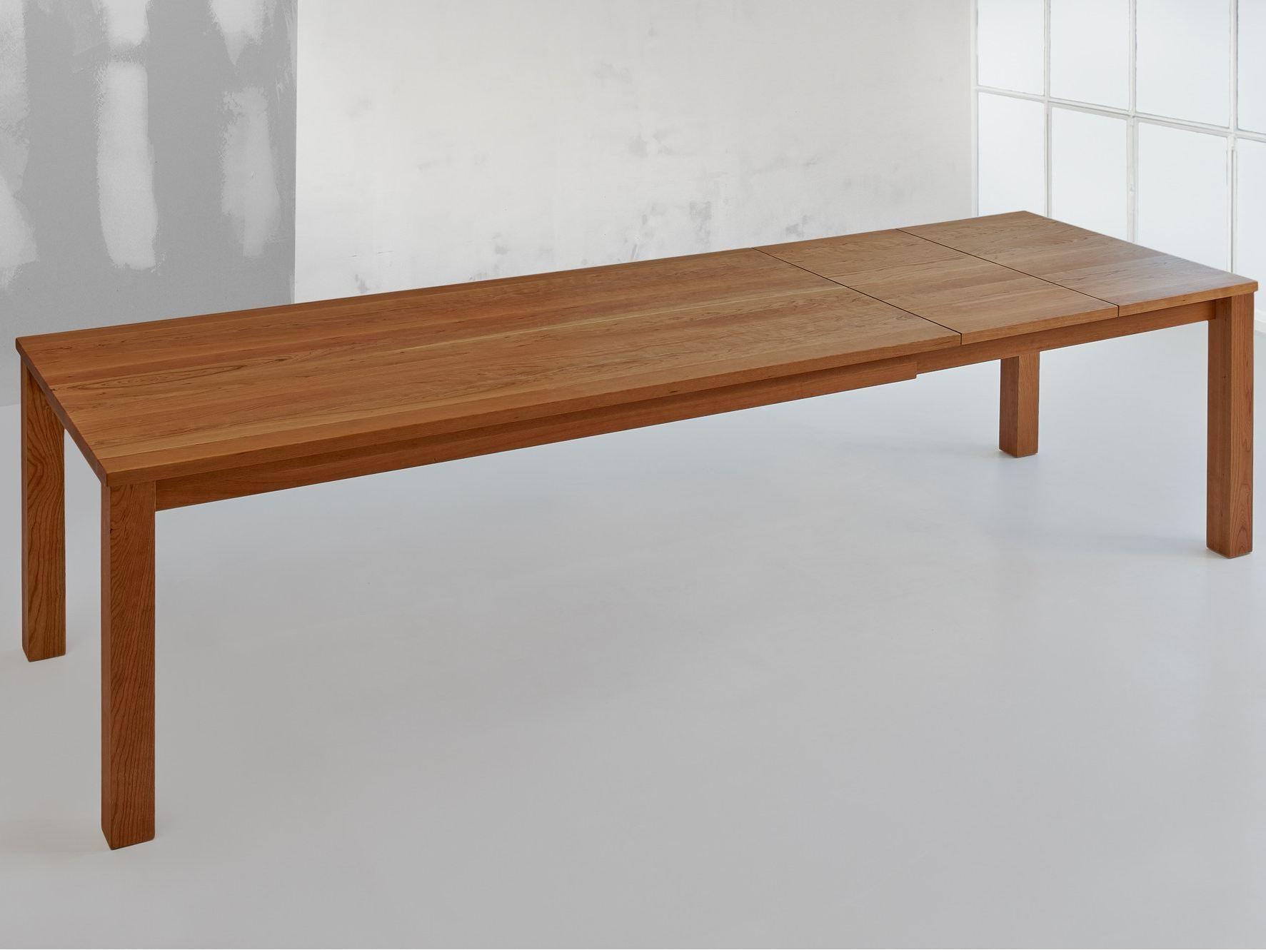 Tavolo allungabile rettangolare in legno massello forte for Tavolo legno massello allungabile