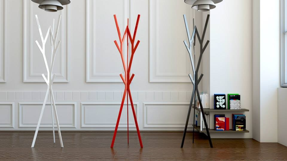Coat Rack Design fractal | coat rackaltinox design sergio cordero Álvarez