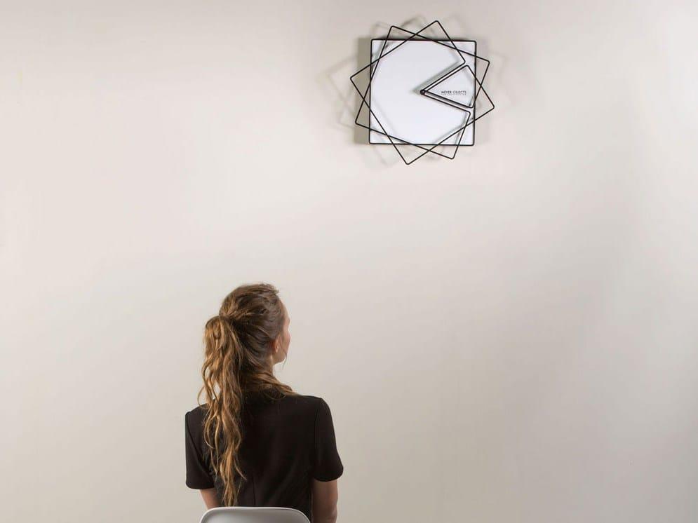 Orologio in lamiera da parete FRAME by Meyer Objects design Nazar ...