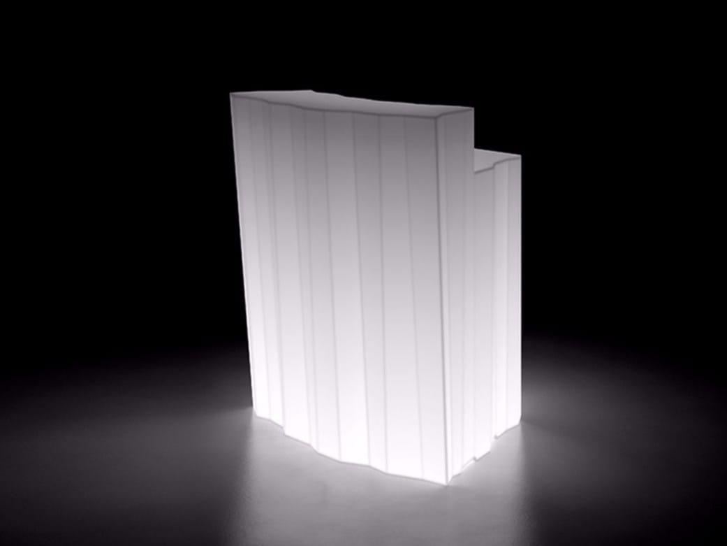 corner lighting. outdoor polyethylene bar cabinet bartolomeo display light by plust design joe velluto corner lighting l