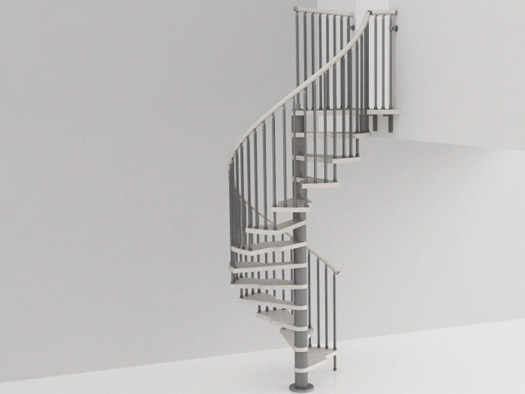 Scala a chiocciola in acciaio inox e legno genius 020 2 for Scala a chiocciola 3d