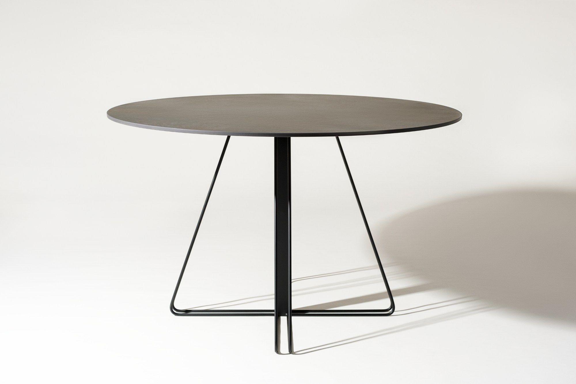 tavolo rotondo in laminam george by elli design design