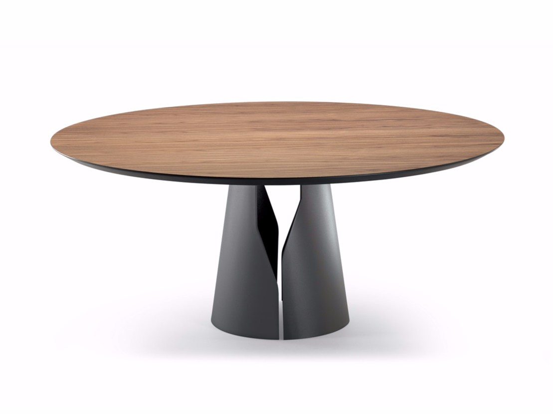 Round dining table giano by cattelan italia design - Table ronde pied central inox ...