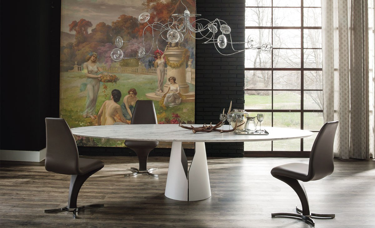 Round Dining Table Giano By Cattelan Italia Design
