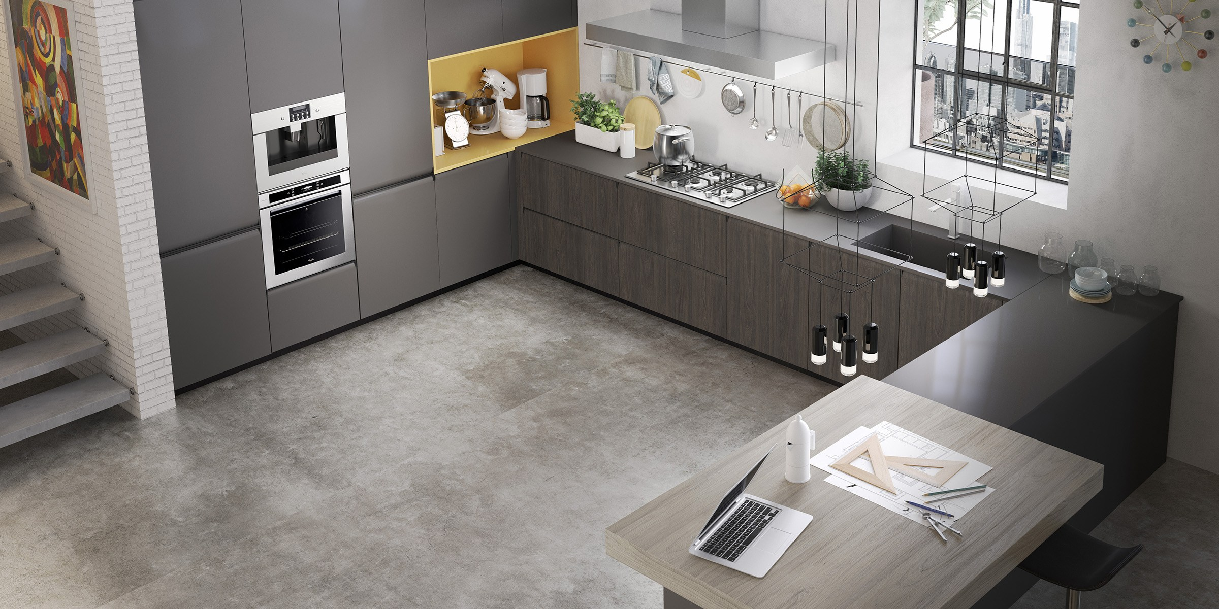 Gibilterra kitchen with integrated handles by del tongo - Top cucine moderne ...