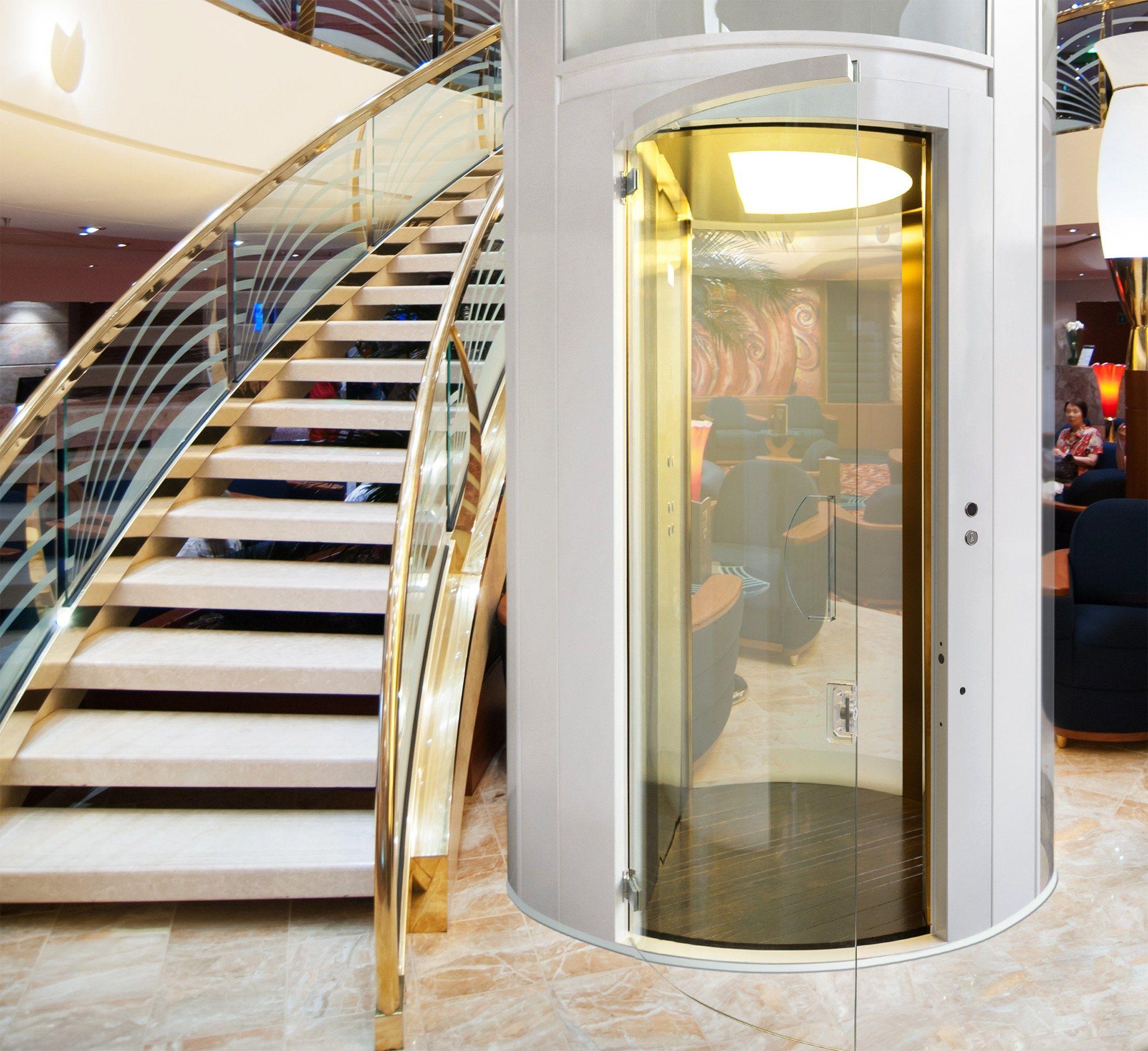 Miniascensore elettrico tondo giotto line by suite lift - Ascensori per interni ...
