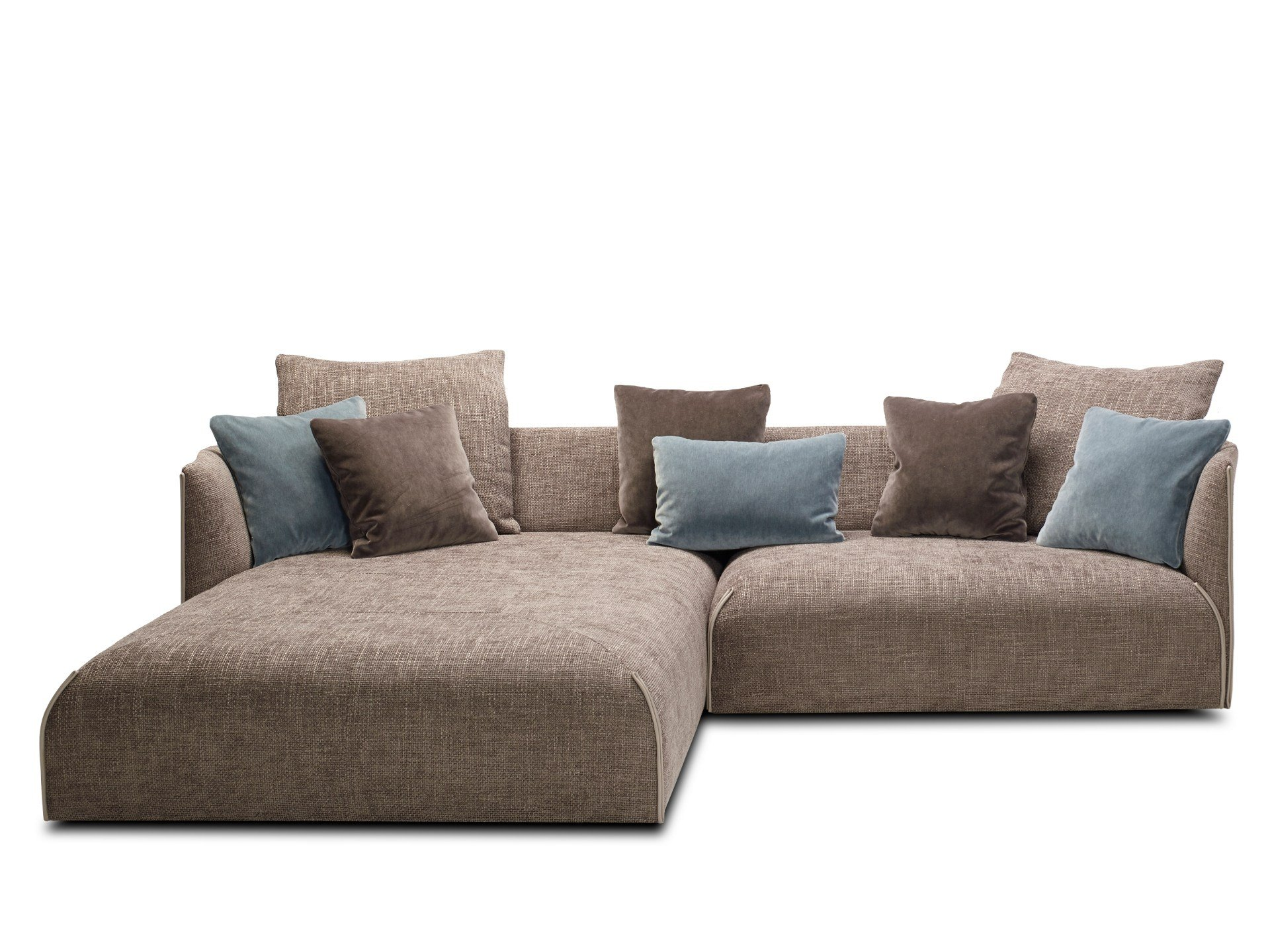 Fabric sofa with chaise longue gitano by jori design jean for Chaise longue tissu