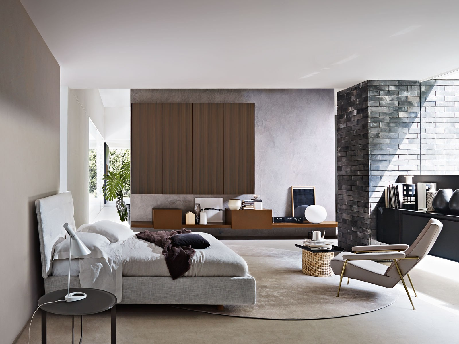 Lacquered wardrobe with drawers gliss up by molteni c for Idea uno arreda