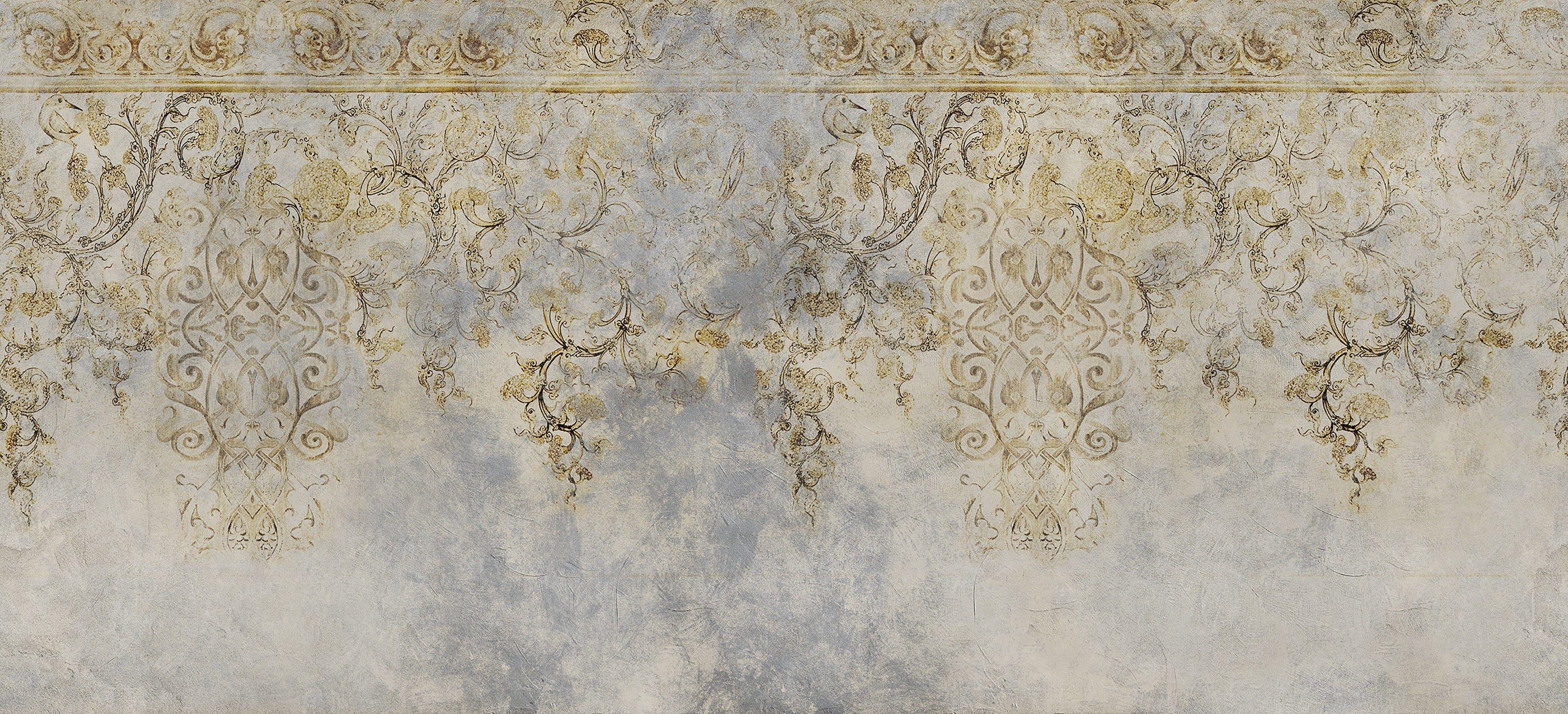 Carta da parati panoramica con motivi floreali effetto for Carta da parati in fibra di vetro