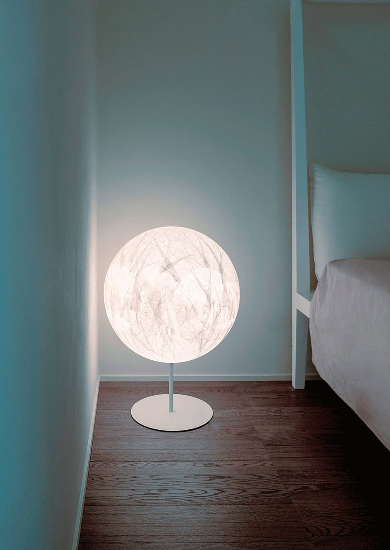 Lampada da terra alogena in carta giapponese con dimmer for Lampade design