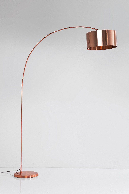 Contemporary Style Arc Lamp Gooseneck Copper By Kare Design