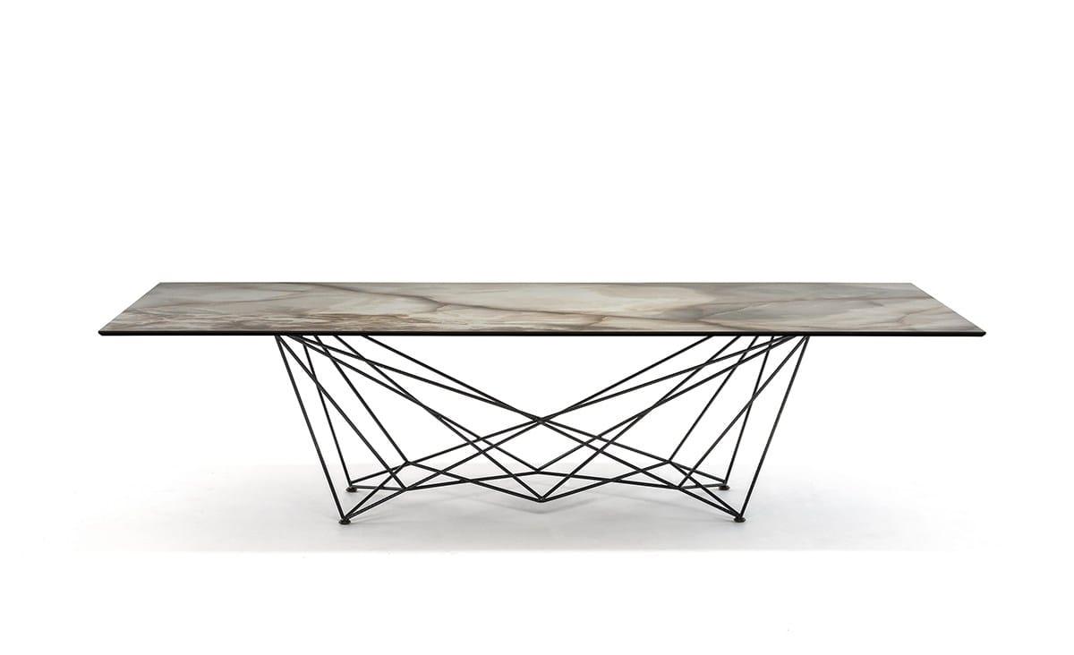 Rectangular ceramic table GORDON KERAMIK by Cattelan ...