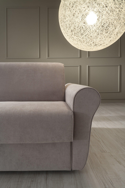 Divano letto imbottito in tessuto in stile moderno a 3 for Divano 3 posti in tessuto moderno