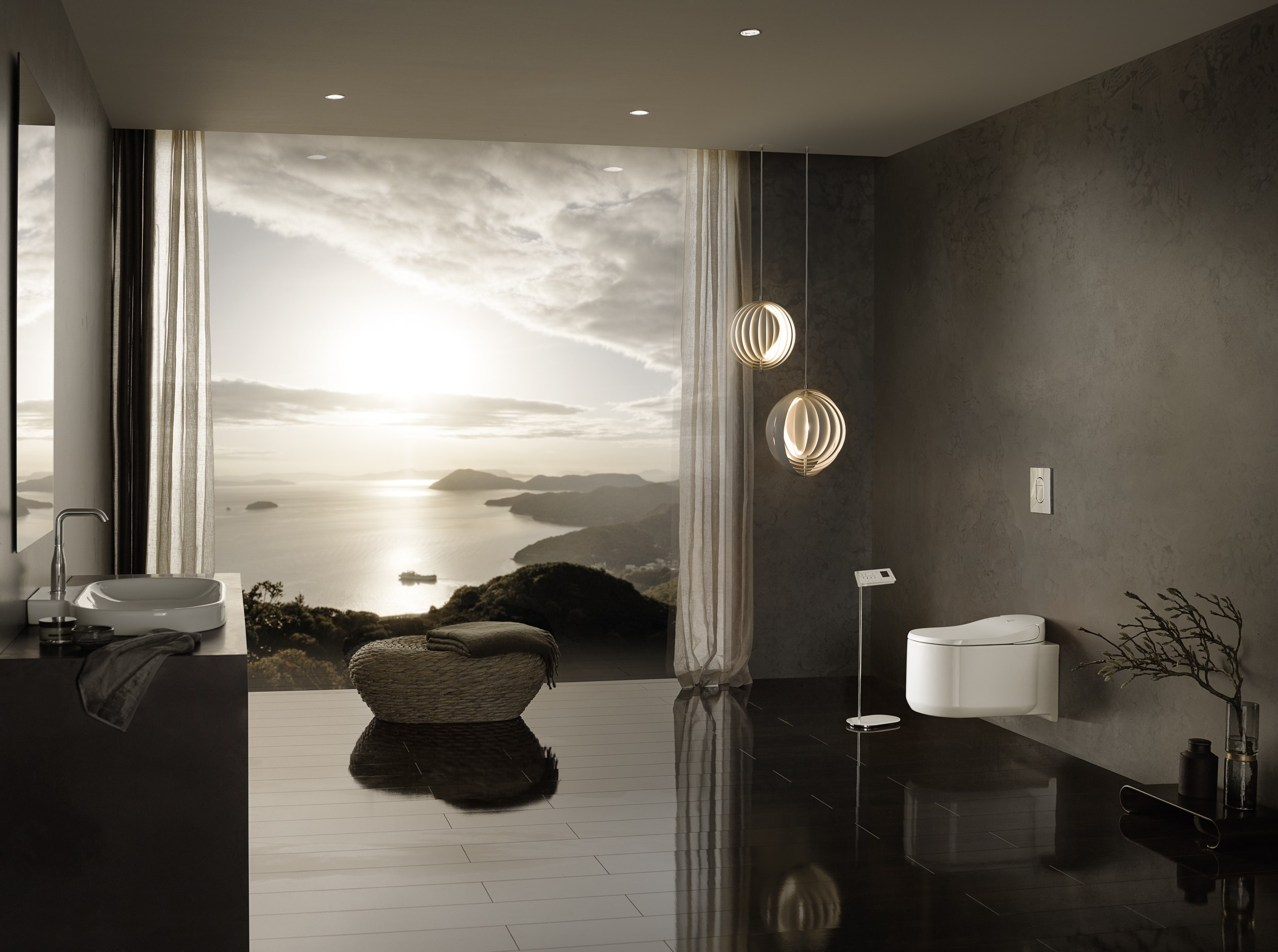 H ngendes wc mit bidet grohe sensia arena by grohe for Wc trend