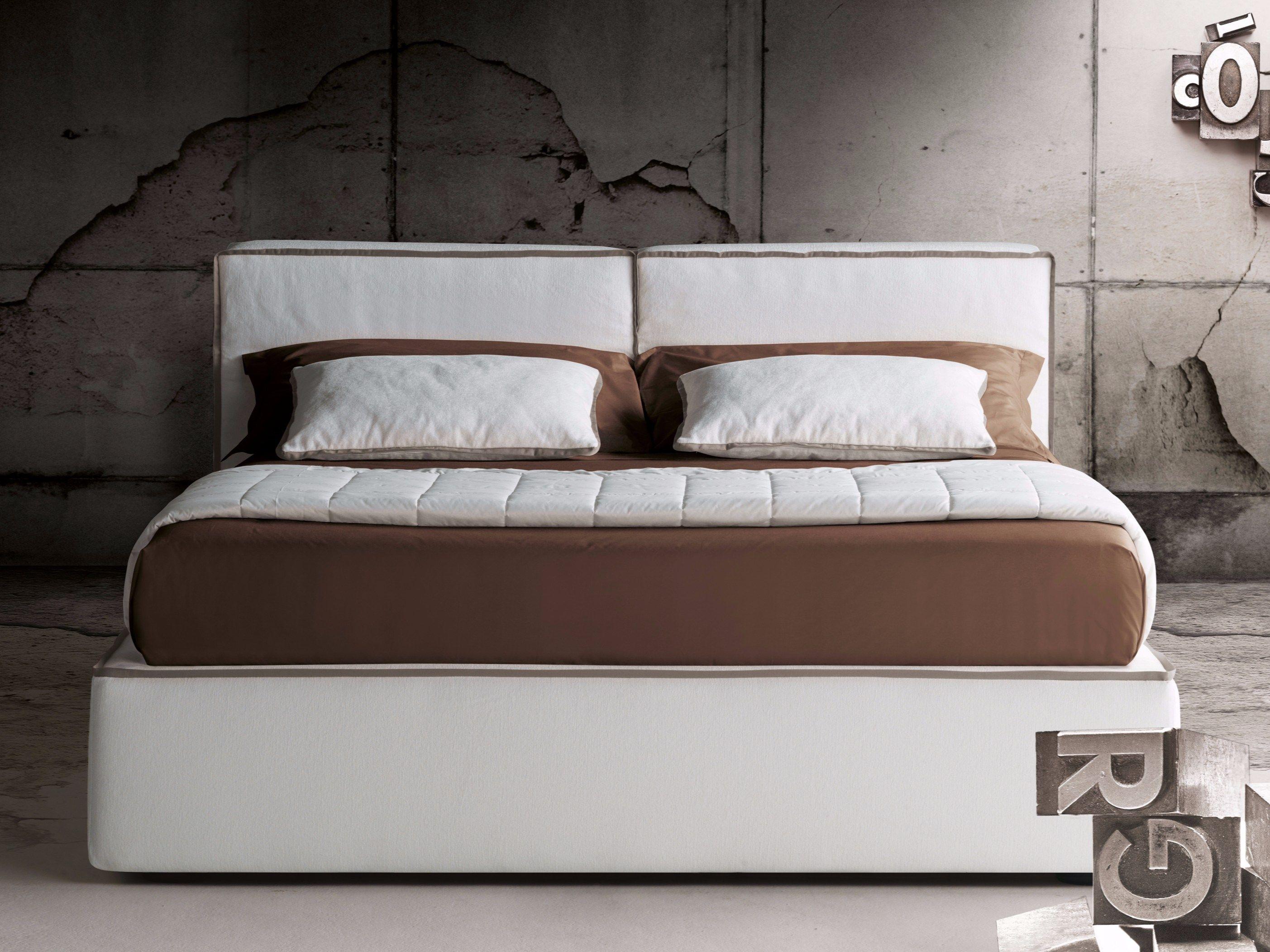 Letto matrimoniale con testiera imbottita guadalupe by for Milano bedding