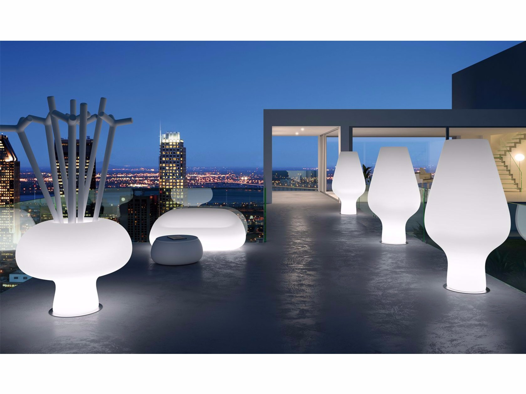 Polypropylene Sofa With Light GUMBALL SOFA LIGHT By Plust Design Alberto  Brogliato
