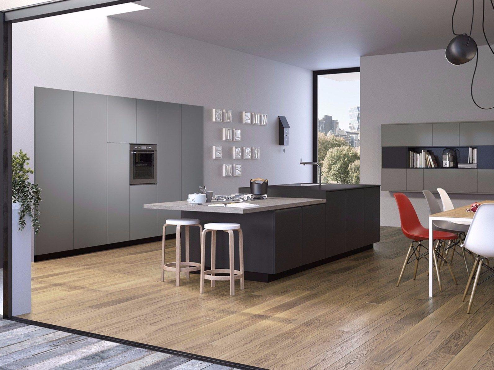 Cucina con maniglie integrate gibilterra by del tongo design egidio panzera r d del tongo - Del tongo cucina ...