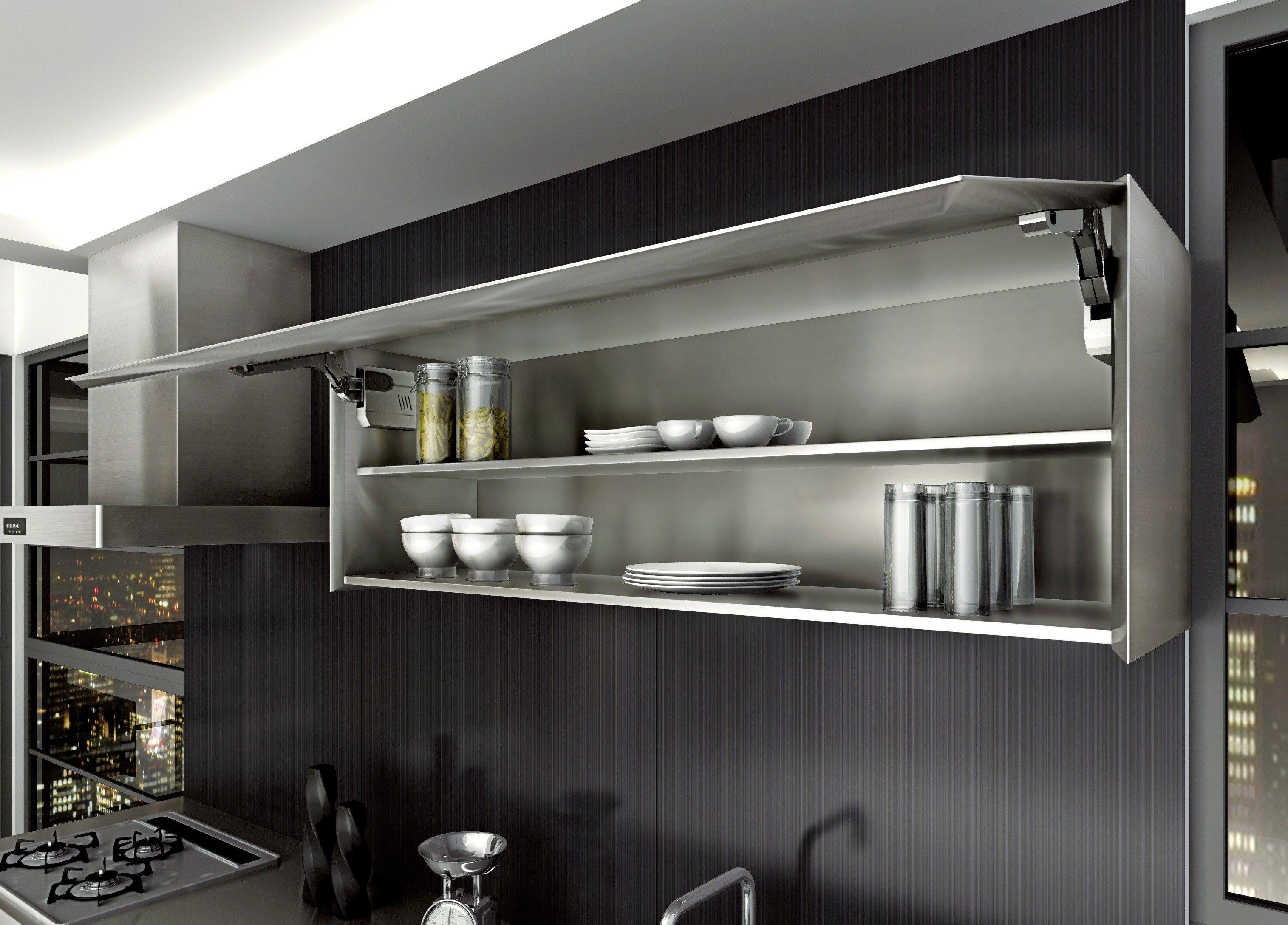 Cucina in acciaio inox senza maniglie grad45 by sanwa company - Maniglie cucina acciaio ...