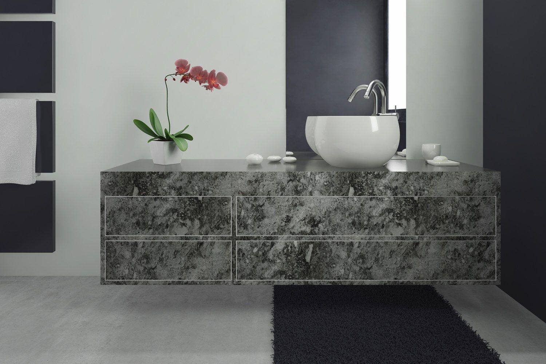 Rivestimento per mobili autoadesivo in pvc effetto marmo marmo grigio alpi opaco by artesive - Carta adesiva rivestimento mobili ...