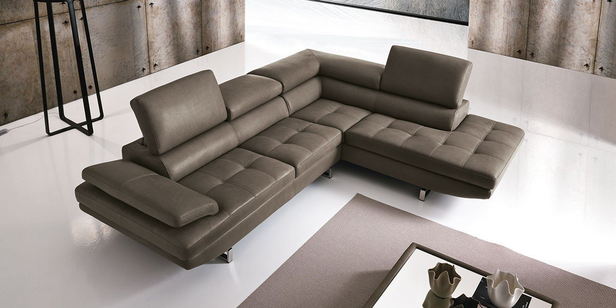 Sectional sofa with chaise longue habart by franco ferri for Chaise longue a petit prix