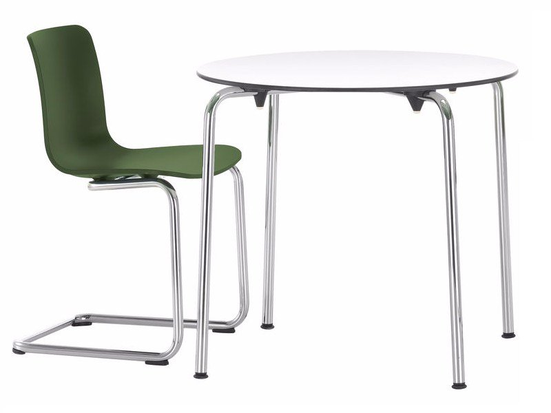 Synthetic material contract table hal table by vitra for Material design table