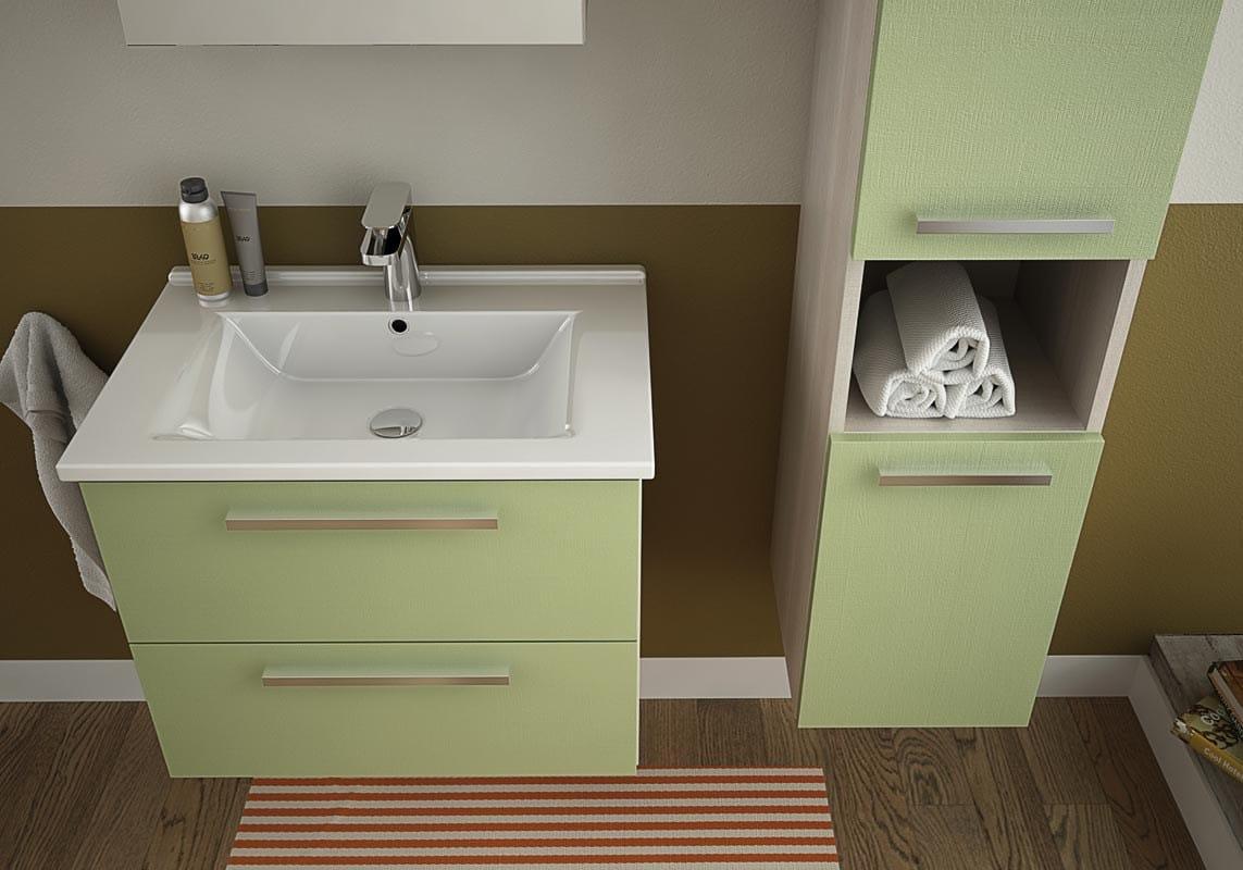 Mobile lavabo sospeso con cassetti harlem h2 by legnobagno - Mobili lavabo sospesi ...