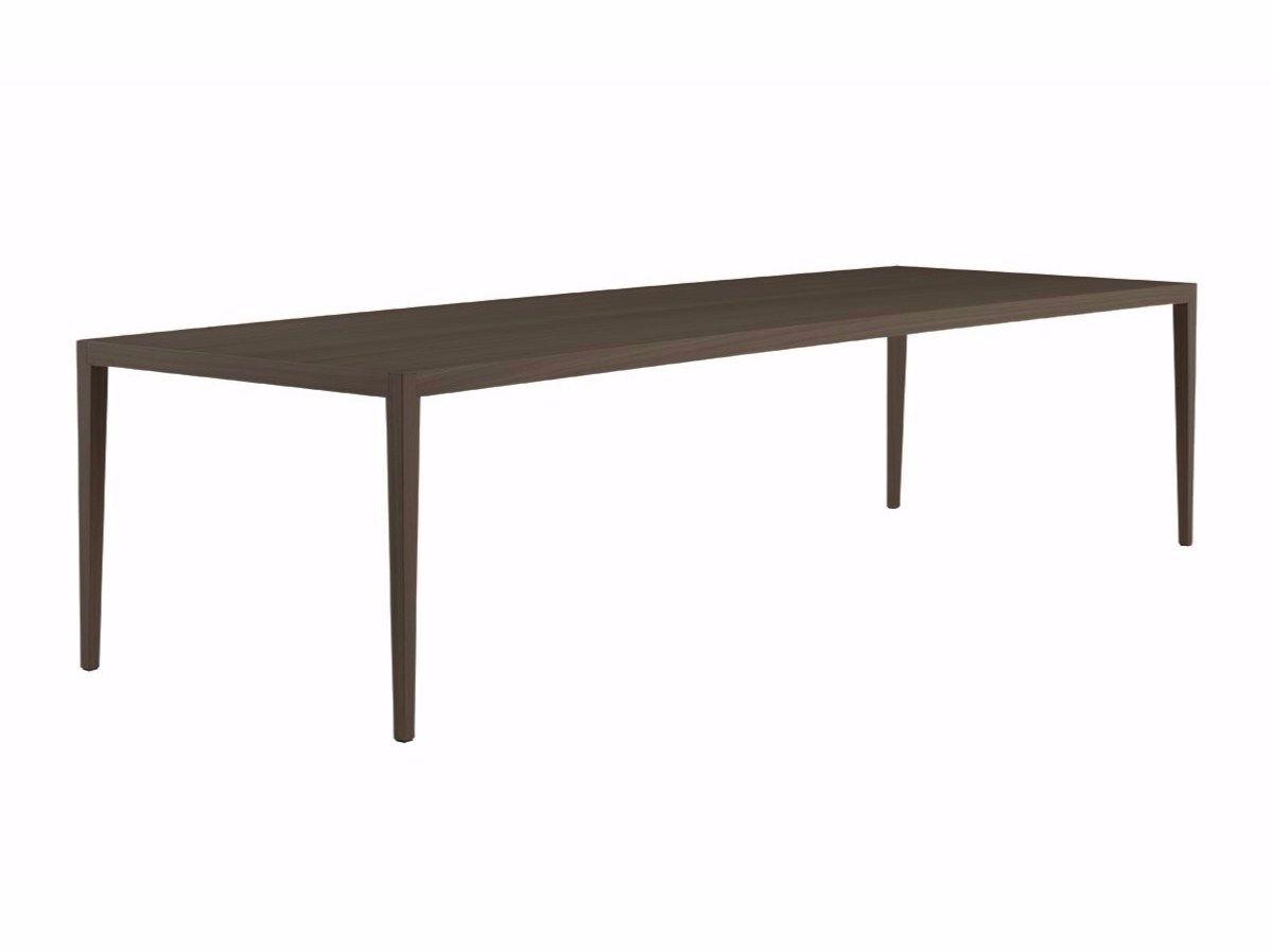 Tavolo rettangolare in legno impiallacciato hector by for Tavolo rettangolare design