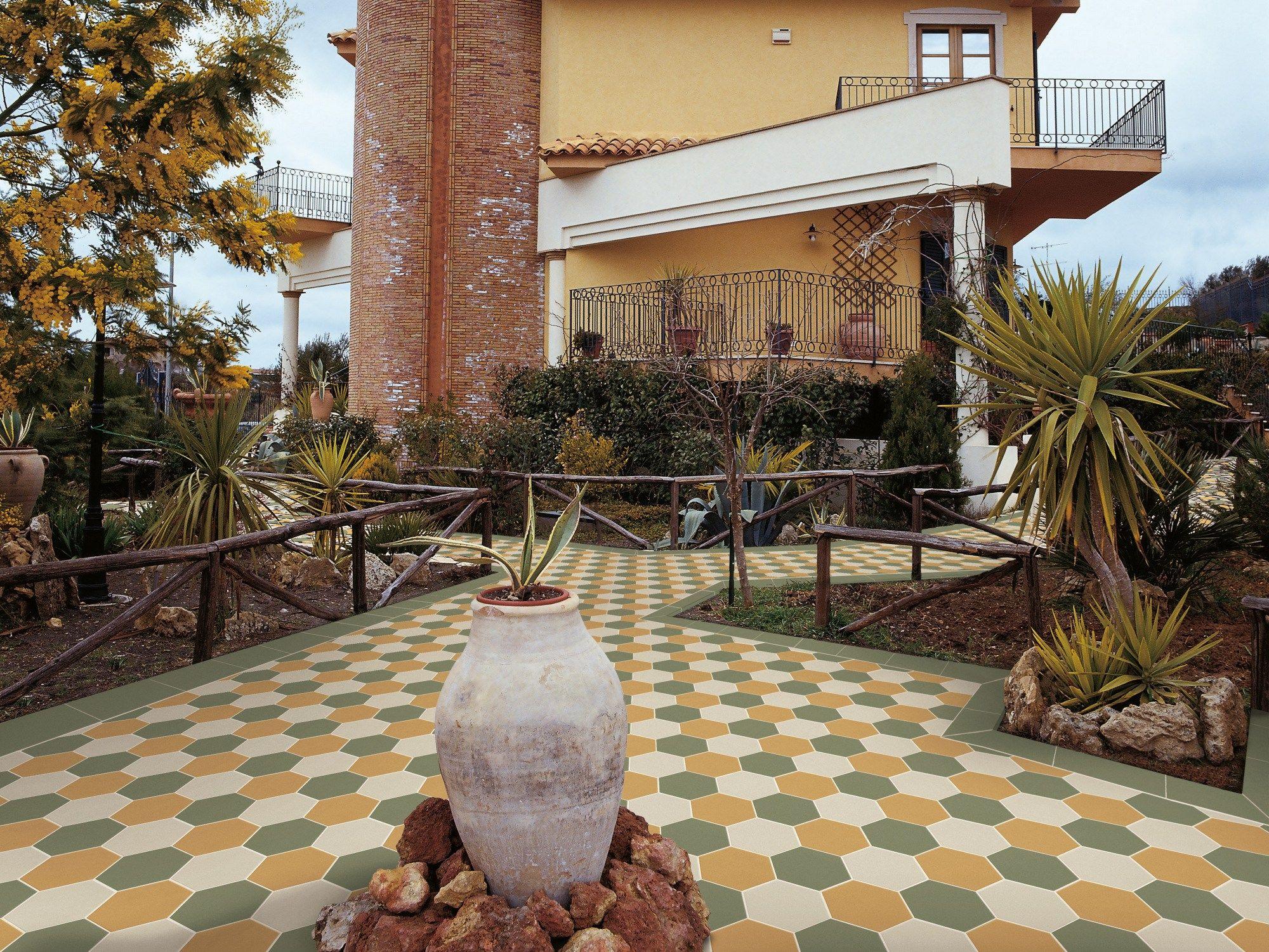 Pavimento in gres porcellanato a tutta massa per interni for Pavimento ceramico hexagonal