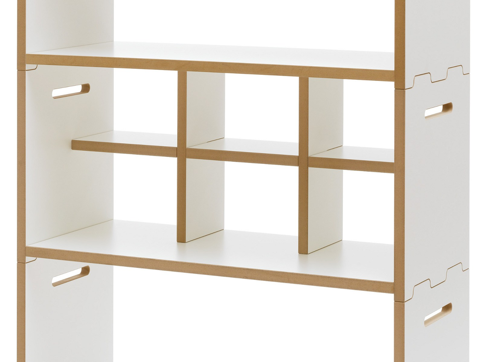Freestanding modular mdf shelving unit hochstapler by tojo for Design sale mobel