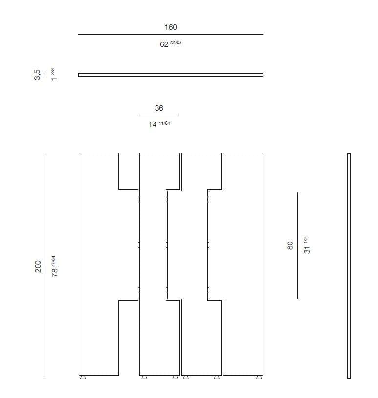 Paravento in legno hudson by rossato arredamenti design for Sandro cioni arredamenti