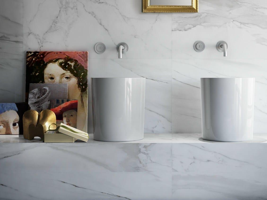 rev tement de sol mur en gr s c rame maill effet marbre. Black Bedroom Furniture Sets. Home Design Ideas