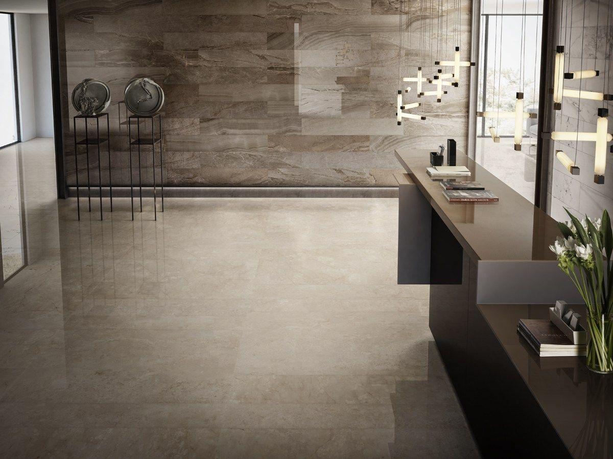 Pavimento/rivestimento in gres porcellanato smaltato effetto marmo I ...