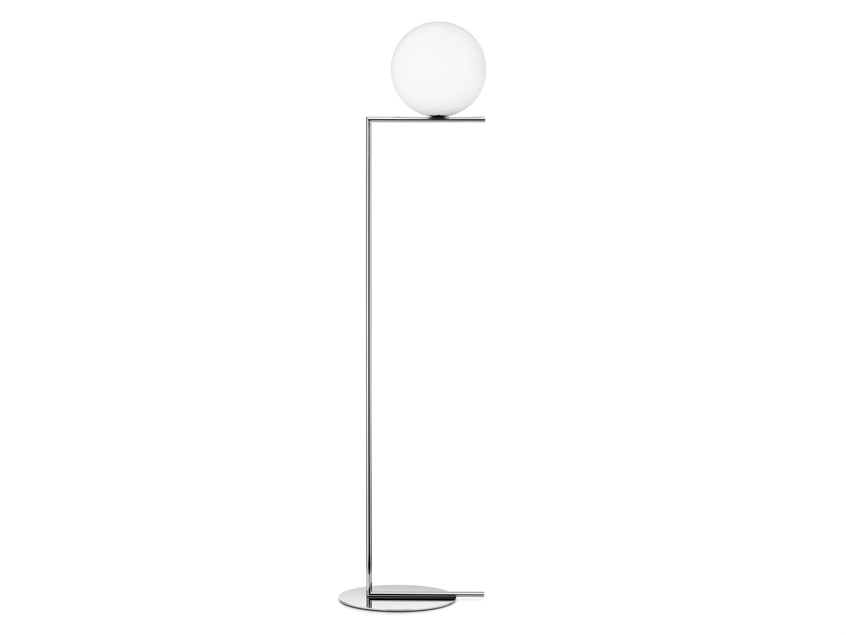 Lampada da terra in ottone ic lights f2 by flos design for Lampada flos da terra