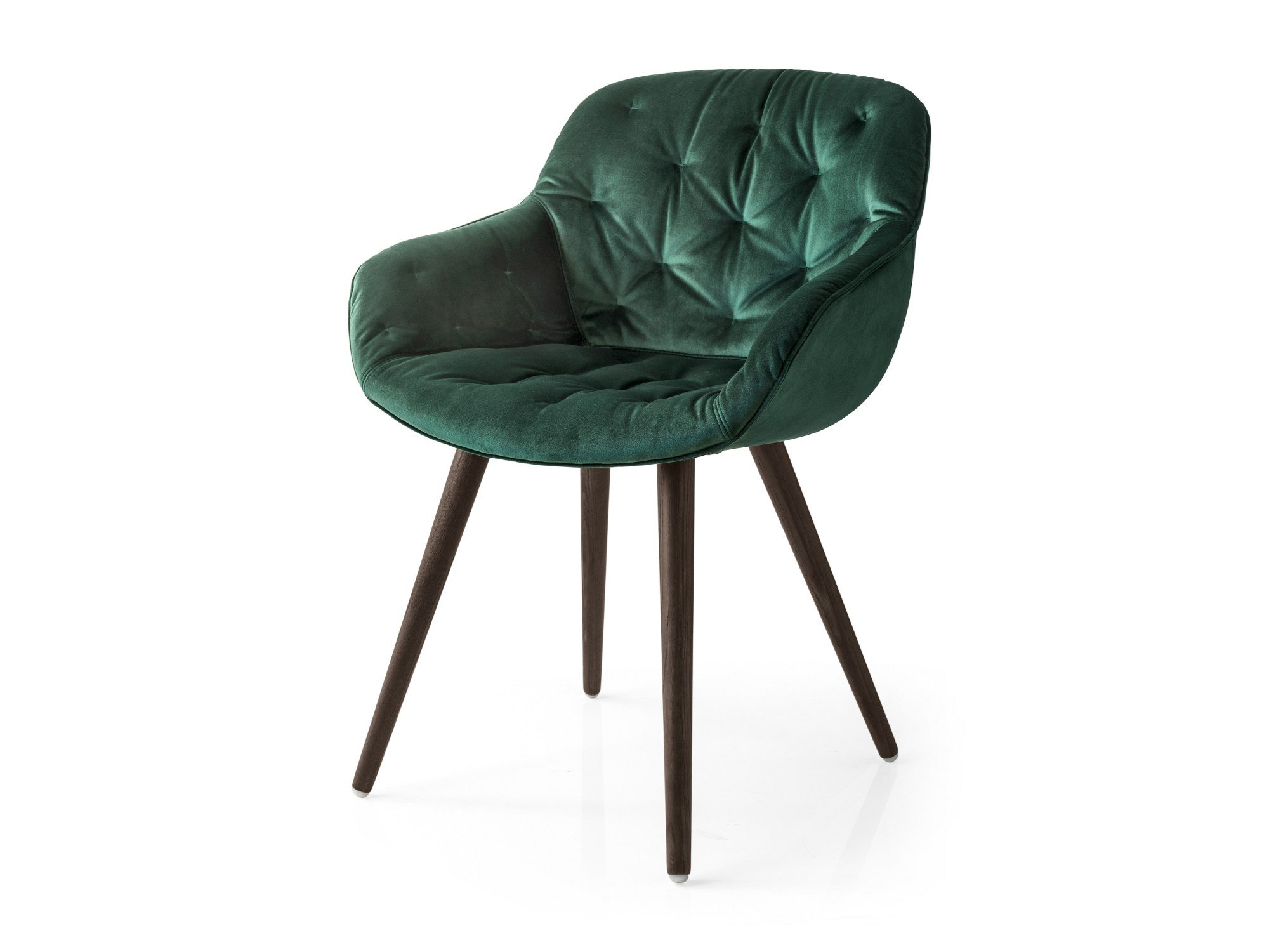 Tufted velvet guest chair IGLOO SOFT by Calligaris design ...