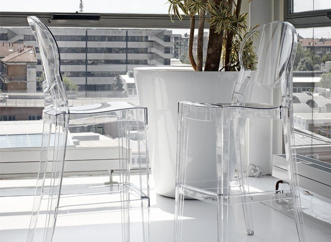 Igloo stool by scab design design luisa battaglia - Chaise polycarbonate transparente ...